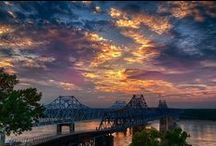 Mississippi River / Captivating shots of Old Man River from the bluffs of Vicksburg.