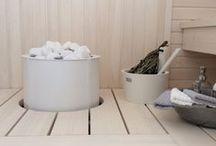 Sauna and bathroom.