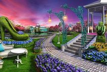 Gardens of Time~Serenity's Way / Gardens of Time artwork.  / by Kim Albin