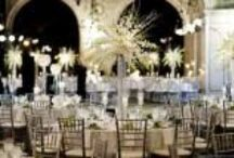 Glam Wedding Ideas and Inspiration / All things bling and sparkle in wedding ideas and design