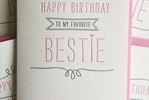 birthday cards for besties / Cute, funny and heartfelt birthday card ideas for out friends
