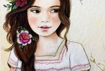 Watercolour art /  Watercolour ideas which wold be so fun to create