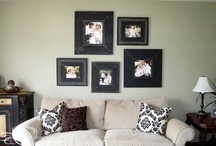 Great frame collages in clients homes