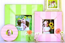 Colorful Picture Frames / Enjoy all the wonderful colors that Obrien Schridde Designs has to offer in our handmade picture frames. Hang them in your children's rooms! So much fun!