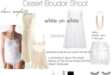 Boudoir Shoot - White on White / A styled boudoir shoot, set to take place in the striking black rock desert. Inspired by Edward Weston's nudes, this shoot is very specifically about skin tones, white simple garments, and the dried, cracked landscape.  Message me if you are interested.  jessi@jessilemayphotography.com