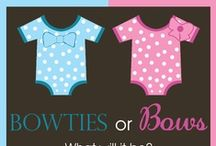 Pink or Blue?  / For FUTURE gender reveal parties and baby showers / by Olivia Brooker