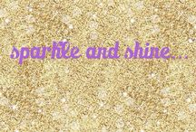 sparkle and shine... / glitter and sequins