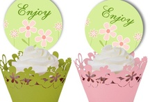 toppers for cupcakes  / by crafts/crafts and more crafts of all kinds Haines