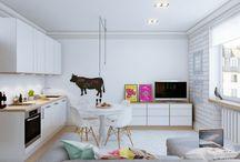 Mini homes & Lofts / Homes interior / by Amanda Perez Macedo Delgado