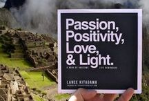 Passion, Positivity, Love & Light – The Book / A book of awesome daily reminders to inspire people to live a happier, more fulfilling life. A life full of, among other things, passion, positivity, love and light. Don't wait to start living the life of your dreams.