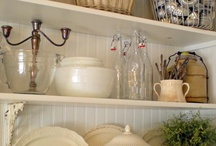 Mantel and shelf decorating / How to style your mantel or bookshelves...ideas on placing things for prettier decorating / by Debbie Booth