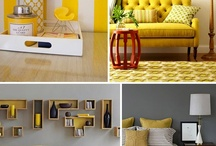 Grey and Mustard Yellow Home Decor / Stunning yellow and mustard home accents mixed with grey home decor bring a modern approach to decorating. This color scheme is pure sophistication.