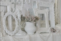 Shabby Chic, Cottage and White 2 / Decorating with soft whites, creams and pastels.