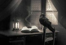 Why is a Raven like a Writing Desk / All things raven, crow, etc.