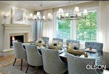 Dining Room: Dressed Up Dining / Advice for creating a dining room that is not only all dressed up, but functional for big family gatherings.