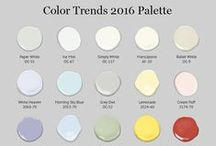 Benjamin Moore: Colors of 2016 / Benjamin Moore's Color Trends 2016 palette has a little something for everyone, from timeless whites to energizing chromatic colors.   / by Candice Olson Design