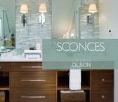 LIGHTING:  Sconces / Sconces provide the second layer of lighting located at the mid-level of the space.  This layer is both practical AND pretty.  Sconces create a cozy feeling of intimacy within a space that can only be achieved with lighting.