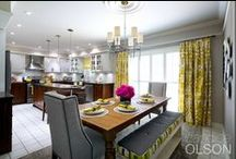 Kitchen:  Designed for Socializing / Candice transforms a kitchen from tired and outdated to fresh and functional.