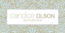 WALLCOVERING: New DECADENCE collection / I believe light is one of the most powerful elements in design and its magical effects abound in my latest collection for York Wallcoverings entitled DECADENCE - Candice Olson