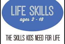 Life Skills for Kids / Ever wondered what your child needs to know at a certain age?  Those are called Life Skills. Encourage your child in the skills they need for life!