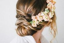 Style: Hair / We just love flowers crowns! Hairstyle inspiration for your event!