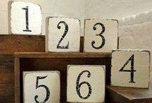 Table Number : Inspire / Wedding table numbers to inspire...