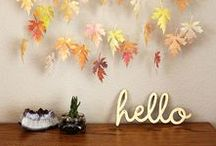 FALL INSPIRATION / Lovely crafts to do during my favorite season, Fall.