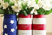 Red, White, & Blue Weddings / Weddings featuring red, white, and blue colors and inspired by Fourth of July.