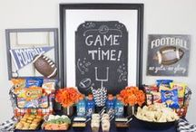 Football Party Ideas / Be game day ready with these fun printables, treats, and football party decor ideas!