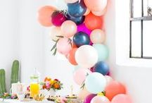Party Balloons / Make it festive and fun with balloon ideas for your party decorations!