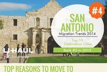 San Antonio, TX / In 2014 San Antonio was the 4th most moved to city in the United States according to the Migration Report. Find out more about this city and its culture. / by U-Haul Co