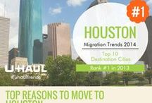 Houston, TX / Houston ranks #1 on the migration trends report. Check out why so many people are moving to this city using this interactive infographic. / by U-Haul Co