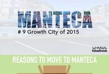 Manteca, CA / Manteca ranks #9 on the U-Haul Trends as a growth city. Check out why so many people are moving to this city.  Using this interactive infographic and other pins find things to do and learn some great moving day tips for moving to Manteca! / by U-Haul Co