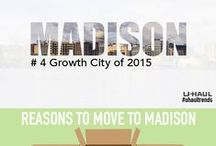 Madison, WI / Madison made the U-Haul Top 10 U.S. Growth Cities for 2015 at No. 4. Growth rankings are determined by the net gain of incoming one-way U-Haul truck rentals versus outgoing rentals for the past calendar year. Find things to do in Madison and learn some tips for moving or visiting this growing city. / by U-Haul Co