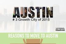 Austin, TX / Austin made the U-Haul Top 10 U.S. Growth Cities for 2015 at No. 6. Growth rankings are determined by the net gain of incoming one-way U-Haul truck rentals versus outgoing rentals for the past calendar year. Find things to do in Austin and learn some tips for moving or visiting this growing city. / by U-Haul Co