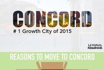 Concord, CA / Concord, CA made the U-Haul Top 10 U.S. Growth Cities for 2015 at No. 1 Growth rankings are determined by the net gain of incoming one-way U-Haul truck rentals versus outgoing rentals for the past calendar year. Find things to do in Concord and learn some tips for moving or visiting this growing city. / by U-Haul Co