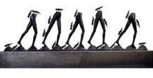Sculpturen , beelden, brons, steen, marmerhaars, neolith / Astri Blokbergen, Babette Degreave, Tineke Thielemans, Ed van Hagen, Riesjart Bus, Geert Verstap Marjoke Reinink Frank Boogaard