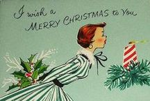 Vintage Christmas / Timeless holiday cards, decorations and traditions, mixed with Jessie Steele's vintage-inspired holiday aprons.