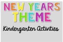 New Years Theme {Kindergarten Activities} / New Years Theme Activities  Art, Science, Reading, Math, Writing, Technology and everything in Between