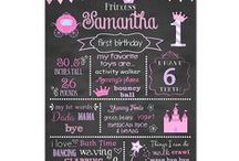 Princess Birthday Party / Princess Birthday Party princess party decorations princess birthday chalkboard sign favorite things sign