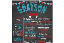 Little Red Wagon Birthday Party / lil red wagon Little Red Wagon Birthday Party Little Red Wagon Birthday Party Birthday Chalkboard Favorite Things Poster Party Decorations Boy Birthday Party Theme