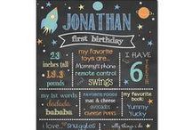 Space Birthday Party / Astronaut Birthday Party Space Birthday Party Birthday Chalkboard Favorite things poster party decorations