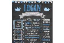 Prince Birthday Party / Prince Birthday Party Party Ideas Birthday Party Boy Party Ideas Birthday Chalkboard Favorite Things Little Prince