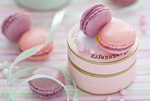 French Pastries / Macaroons and other sweet confections that inspired our darling and delicious pink French Pastries Collection