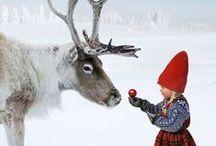 Charming snow fantasyland