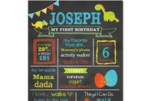 Dinosaur Birthday Party / Dinosaur Birthday Party Birthday Chalkboard Sign Party Ideas