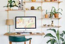 ▲ HOME OFFICE ▲ / Boho decor inspiration for a energizing working space / Inspiration déco pour un bureau bohème