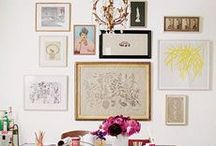 Gallery Wall Ideas / a collection of gallery walls and art to inspire a well-dressed wall in your home.