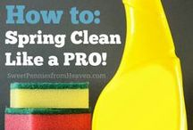Cleaning and Organization / Keep your house clean and organized with these cleaning tips, organization ideas and other tricks and resources