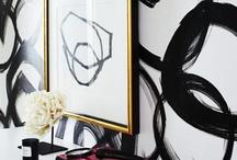 Black & White Interiors / by Monika S.